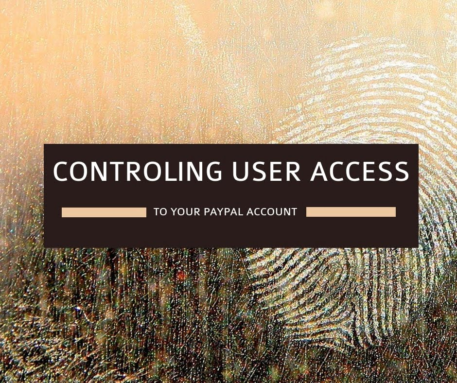 How to control user access in your PayPall account.