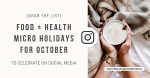 Instagram food and health holiday stock photos for October
