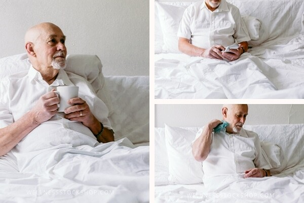 Stock photos of healthy seniors